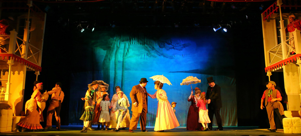 Opening scene from Showboat at Diamond Head Theatre